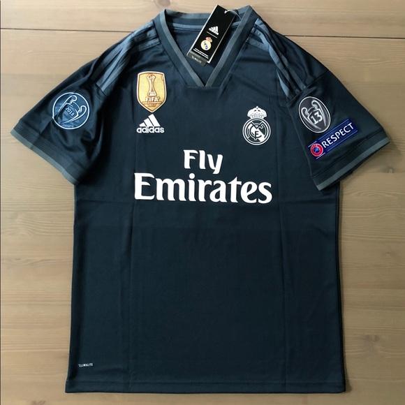 Real Madrid away Black Bale #11 Soccer Jersey men